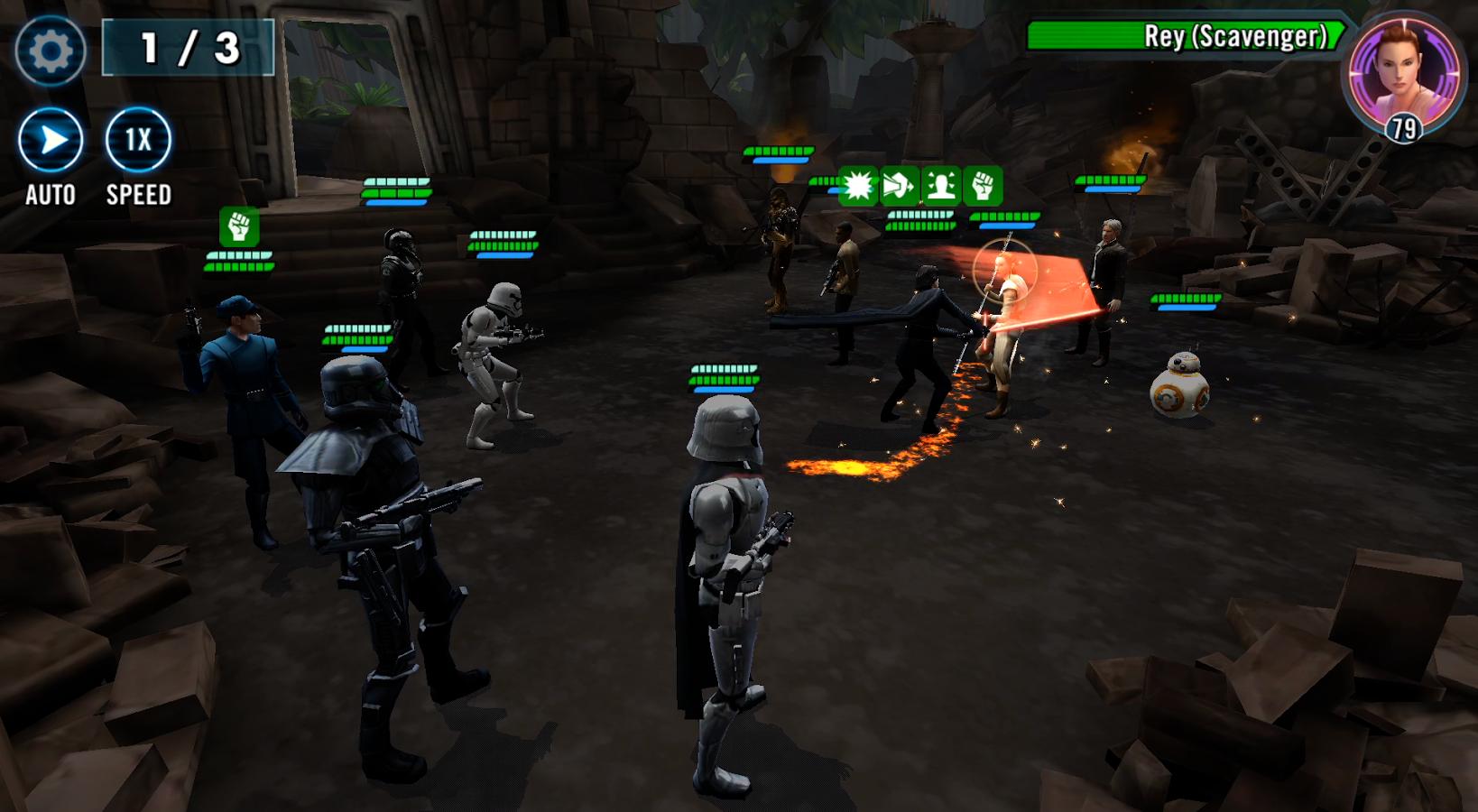 Star Wars Galaxy of Heroes on PC - Gameplay Screenshot