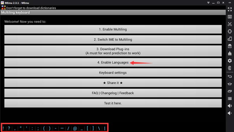 How to Input Multi-language - MEmu Android Emulator