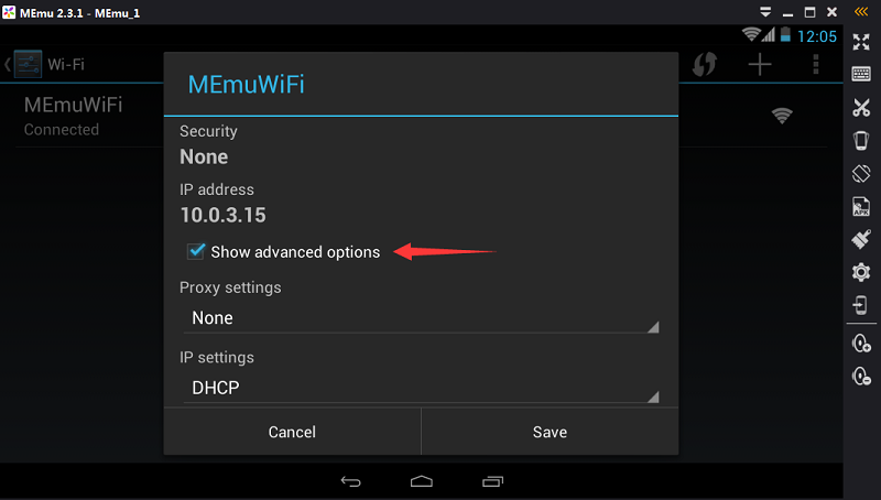 How to Setup Network (incl  Proxy) - MEmu Android Emulator