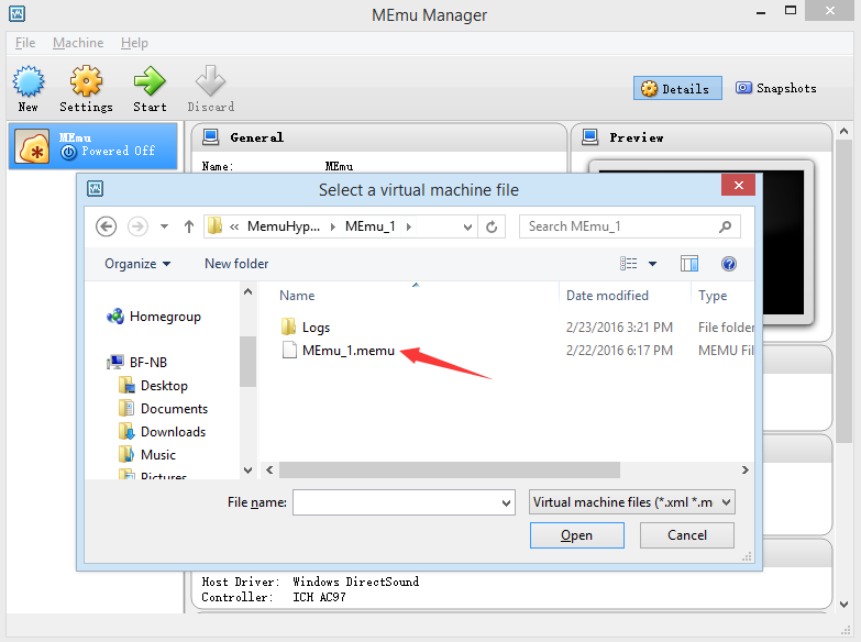 How to Recover MEmu VM - MEmu Android Emulator