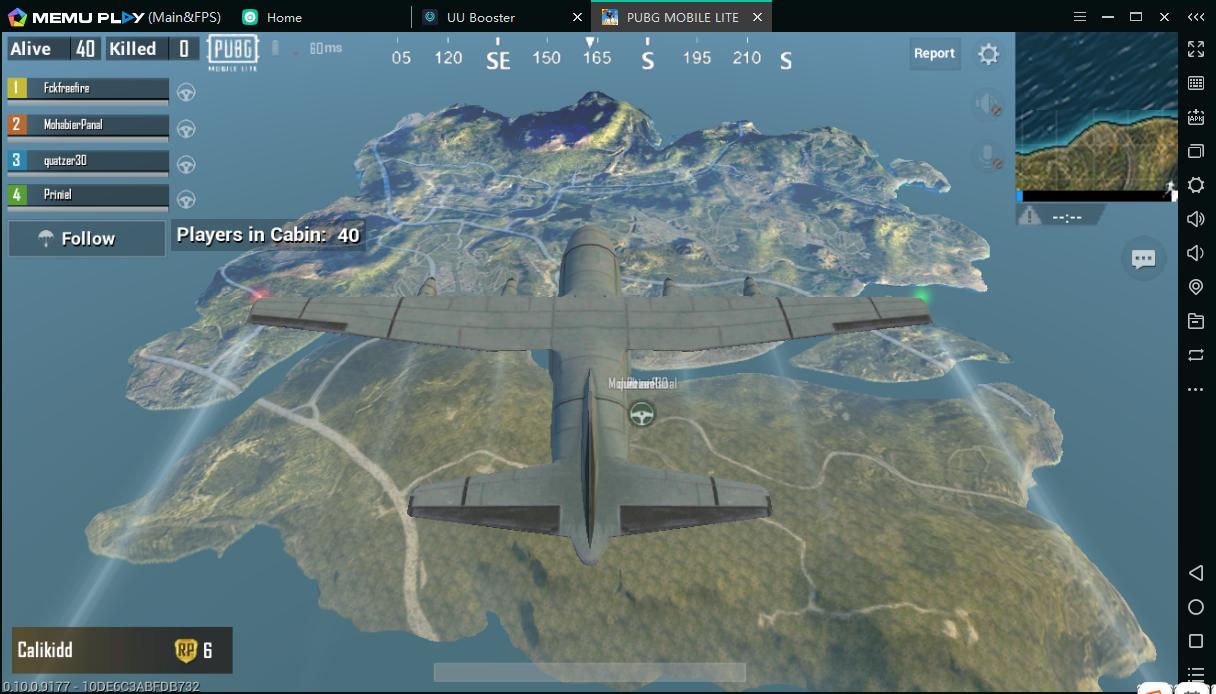 PUBG Lite Avion