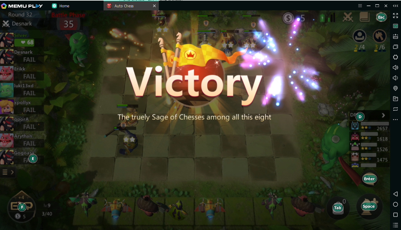 Bermain Auto Chess di PC dengan MEmu Android Emulator