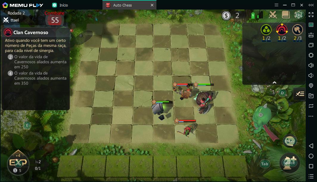Jogar Auto Chess PC Fraco