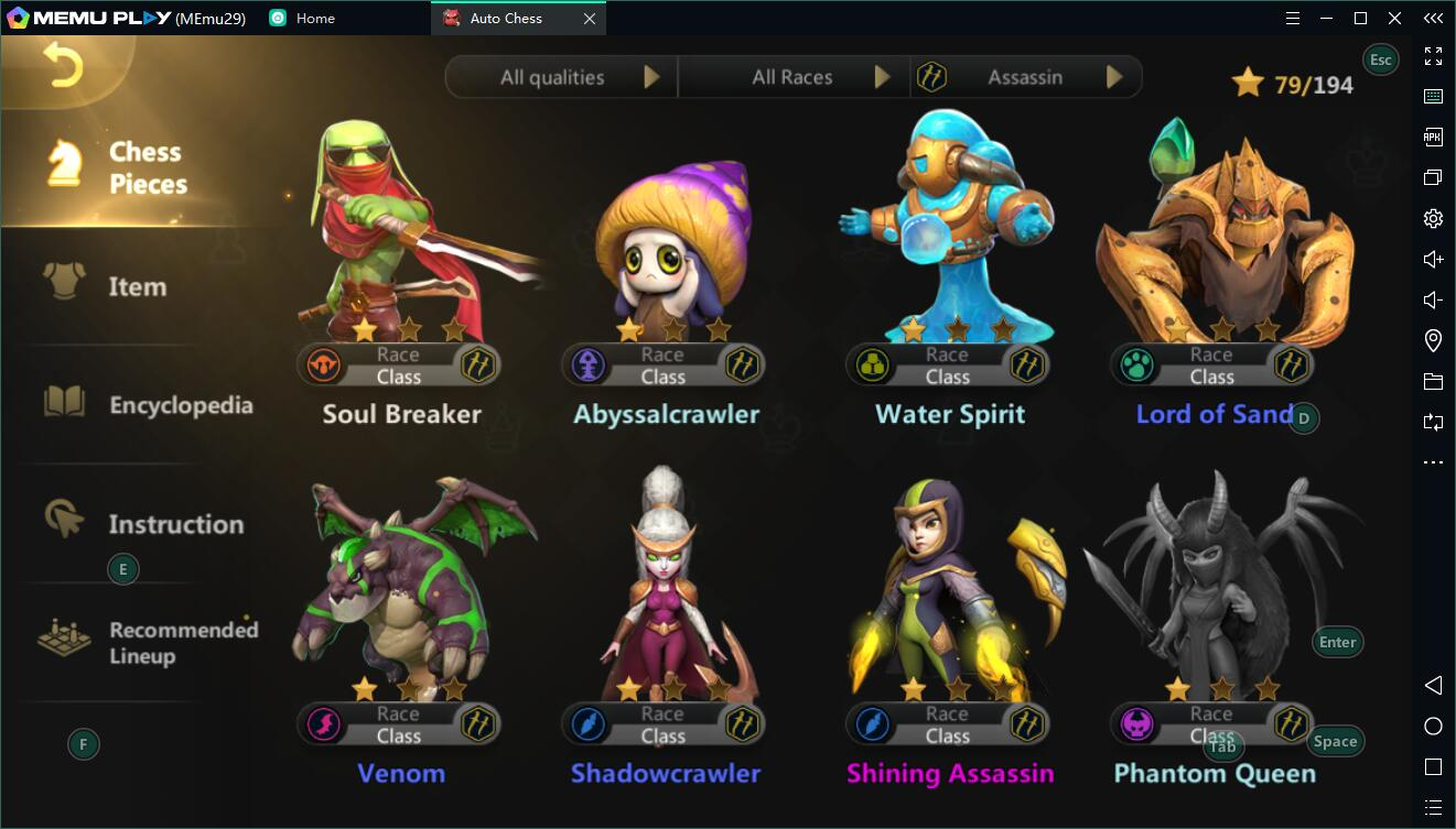 Auto Chess Assassin build