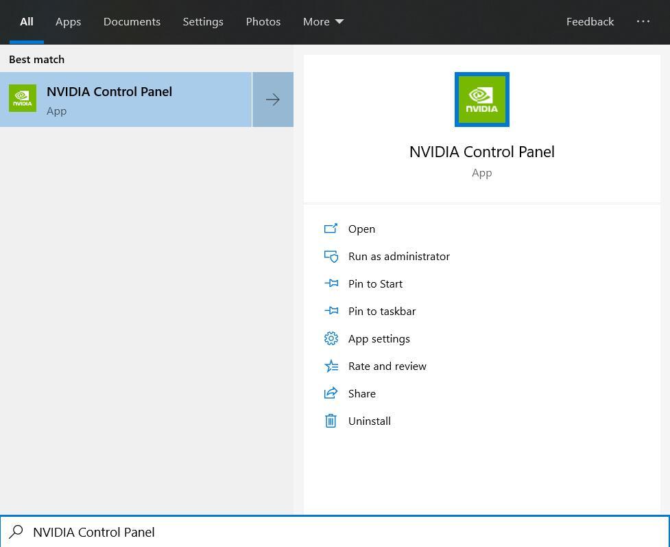 Open NVIDIA Control Panel
