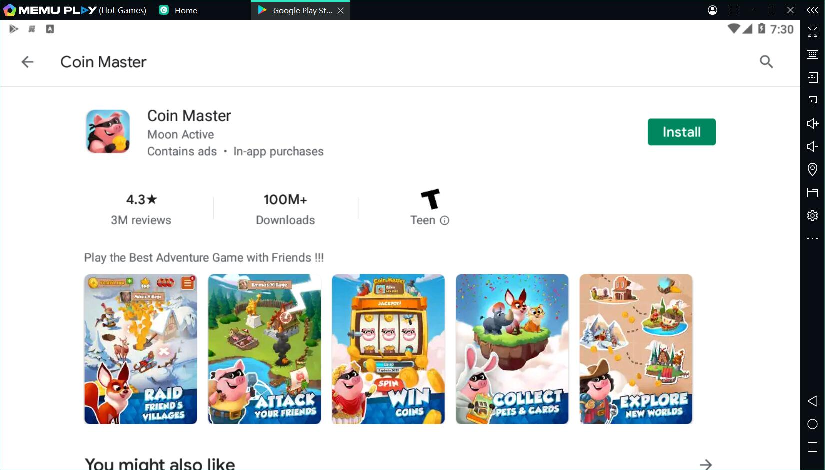 Coin master free link today