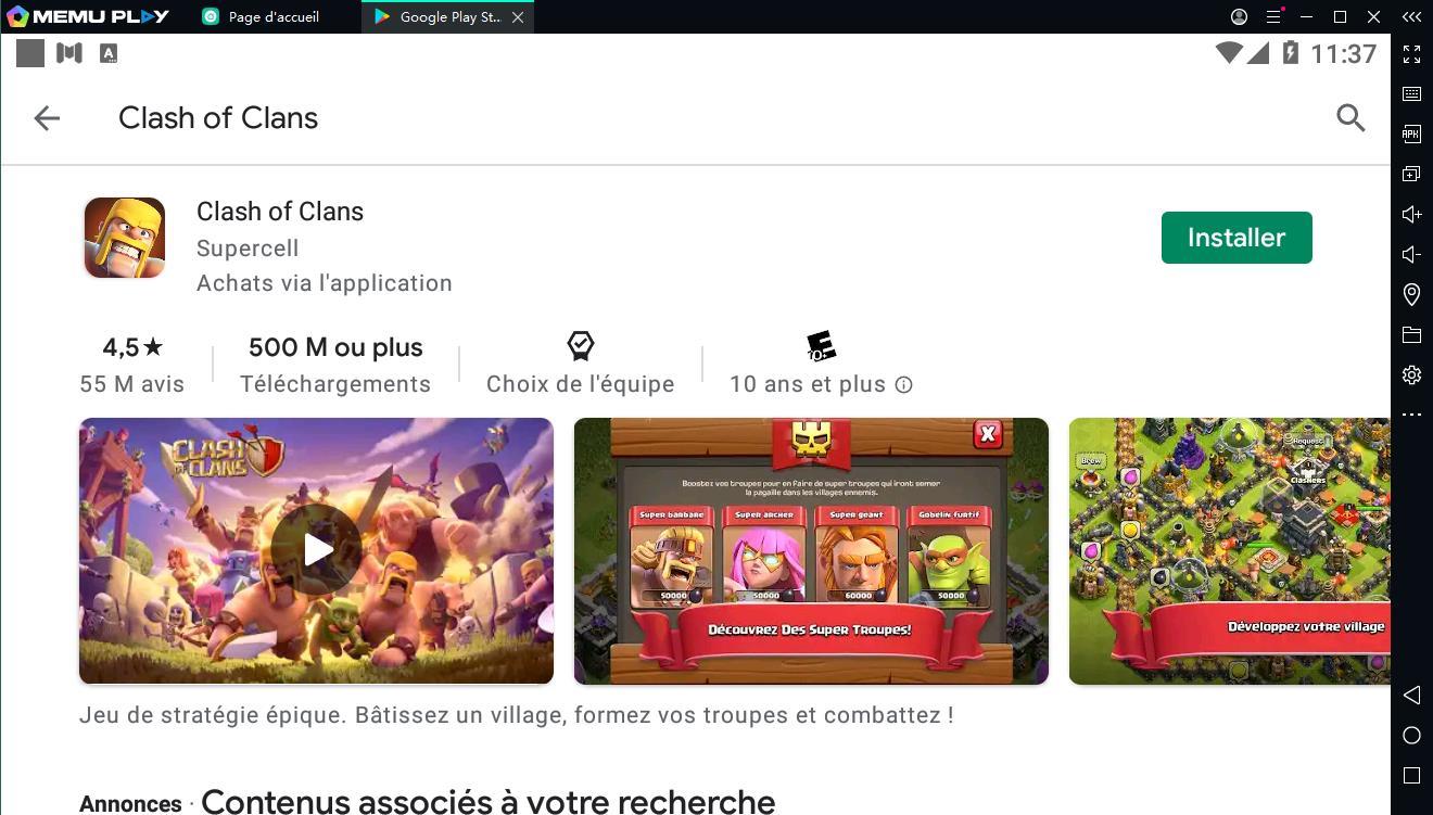Téléchargez et jouez gratuitement à Clash of Clans sur PC