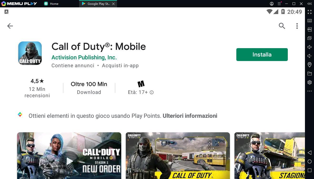 Scarica e gioca al Call of Duty:Mobile su PC