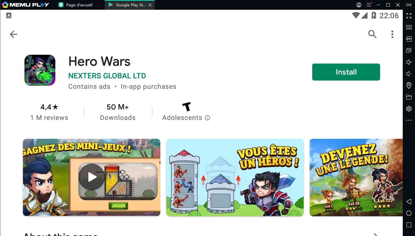 Téléchargez et jouez gratuitement à Hero Wars sur PC