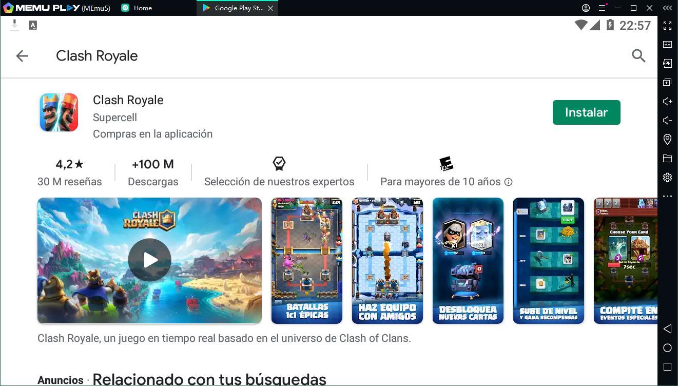 ¡Clash of Royale es puede jugar en el ordenador, vamos descarga y juega ahora!