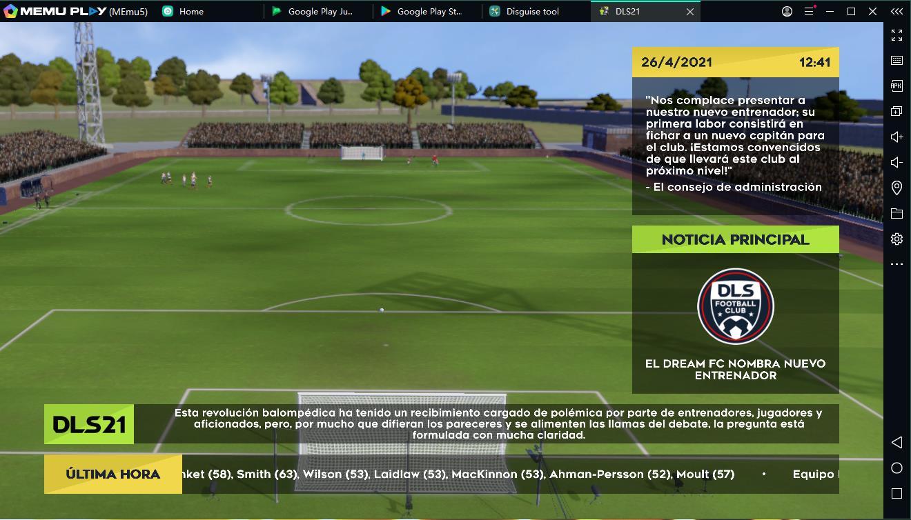 Descargar y jugar juego Dream League Soccer 2021 en el ordenador