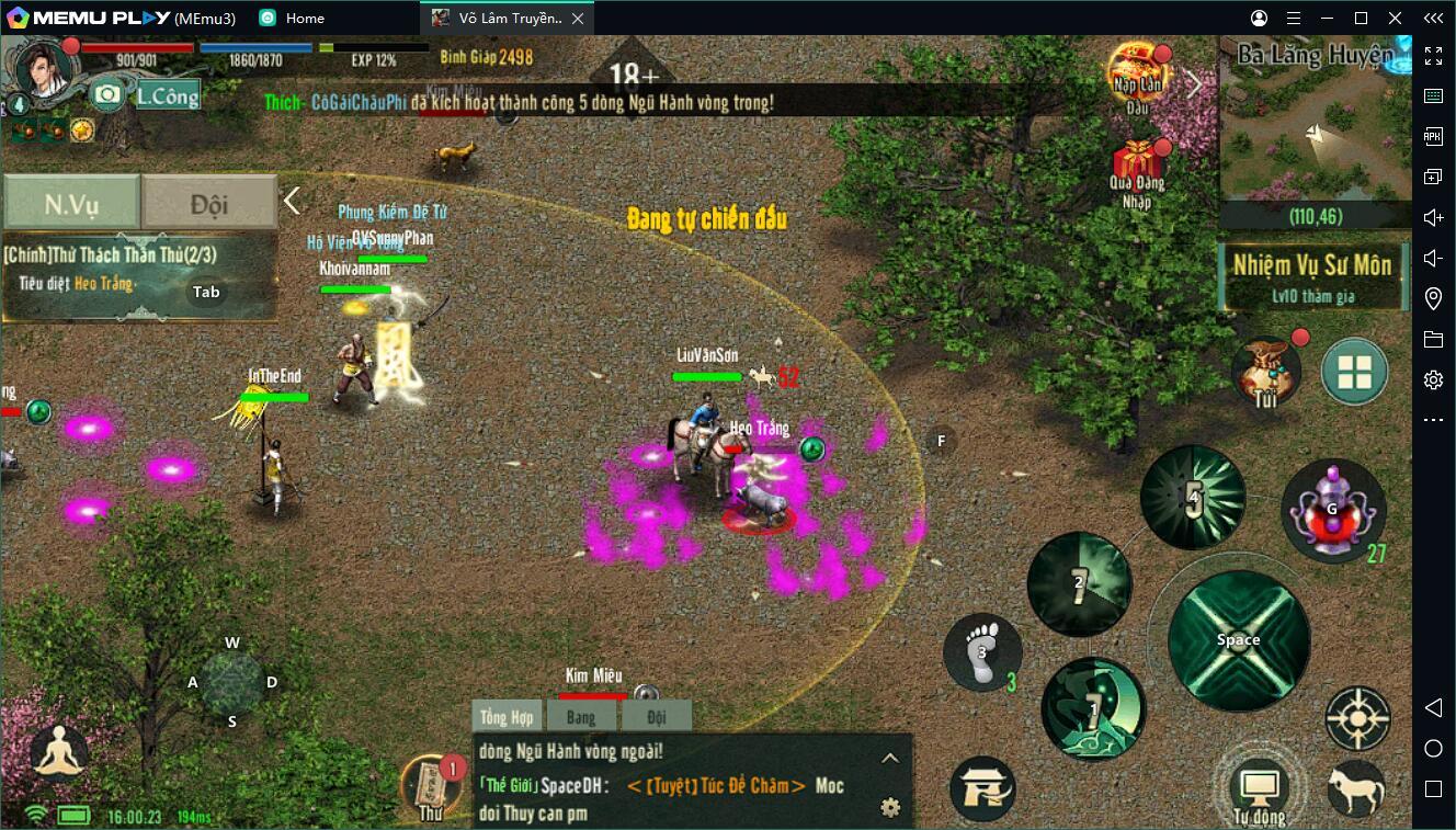 Tải Võ Lâm Truyền Kỳ 1 Mobile trên PC